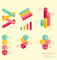 Modern soft color graph Design vector image