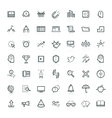 Modern thin line icons set of doing business vector image vector image