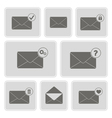 monochrome icons with mail symbols vector image vector image