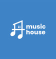 music note house home logo icon vector image