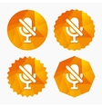 No Microphone sign icon Speaker symbol vector image vector image