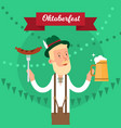 oktoberfest traditional festival poster vector image vector image