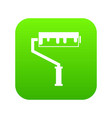 paint roller with paint icon digital green vector image