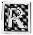 Polka Dot Font LETTER R vector image vector image