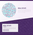 real estate concept in circle vector image vector image