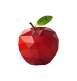 red apple in polygonal style vector image vector image