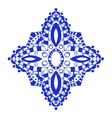 Round blue floral ornament vector image vector image