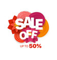 season sale banner template sale off up to 50 vector image vector image