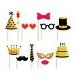 set funny costume to happy birthday vector image vector image