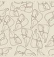 sketch ink human liver seamless pattern vector image vector image