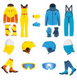 ski wear waterproof vector image vector image