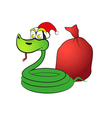 Snake in a hat with gifts vector image