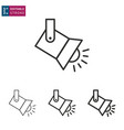spotlight line icon on white background editable vector image