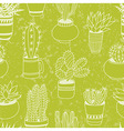 Succulents garden - seamless pattern vector image vector image