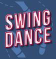 swing dance vintage 3d lettering music party