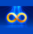 symbol infinity electronic sign technology vector image