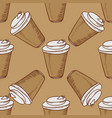 take away cups of coffee seamless vector image