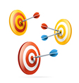 Targets set isolated on white vector image vector image