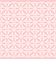 tile pink and white pattern vector image vector image