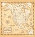 vintage north america map vector image vector image