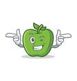 wink green apple character cartoon vector image vector image
