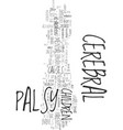 Your helpful guide to cerebral palsy text word