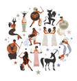 zodiac signs style mythology of ancient greece vector image