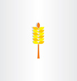 wheat yellow sign icon vector image