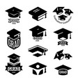 isolated black and white color students graduation vector image