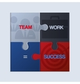 Pieces of jigsaw puzzle showing business equation vector image