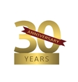 30 years anniversary vector image vector image