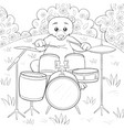 A children coloring bookpage a cute playing bear