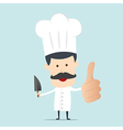 A male chef with a knife on hand vector image