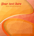 Abstract orange polygonal background vector image vector image