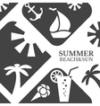 Abstract summer menu Beach vector image
