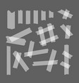 adhesive tape set vector image