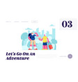 aged couple voyage senior tourists traveling vector image vector image