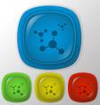 atom molecule vector image vector image