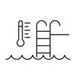 auto temperature pool control icon outline style vector image