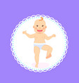 bamilestones period from 1 to 12 month newborn vector image vector image