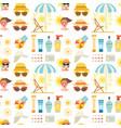 beach accessories summer fashion beach travel vector image