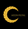 beautiful blonde pigtail moon curly wavy vector image