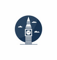 big ben tower icon english school logo concept vector image