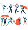 business concepts isolated businessmen and vector image vector image