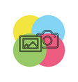 camera with photo icon photography vector image