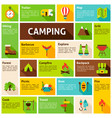 camping infographics design vector image vector image