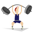 cartoon man weightlifter isolated vector image vector image
