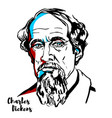 charles dickens vector image