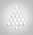 Christmas tree made of computer keys vector image