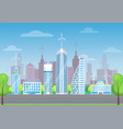 cityscape and skyscrapers poster vector image vector image